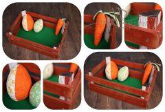 Bedýnka dřevěná + dekorace
