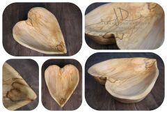 Srdce dřevěné dlabané