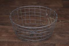 Košík kulatý drátěný