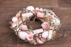 Věnec jarní - velikonoční růžový