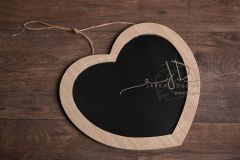 Srdce tabulka na křídu