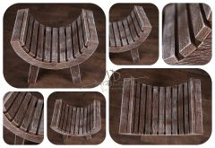Stolička extra prohnutá - ořech patina