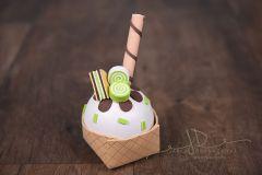 Pohár zmrzlinový - zelený