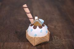 Pohár zmrzlinový - modrý
