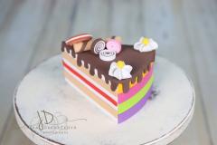 Dort - výkroj dortová - duhová