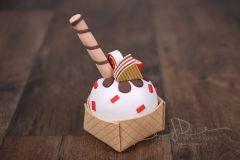 Pohár zmrzlinový - červený