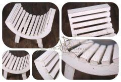 Stolička extra prohnutá - bílá patina