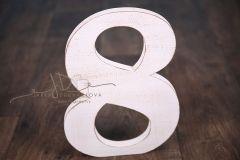 Číslice MAXI osmička bílá