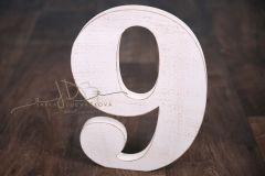 Číslice MAXI devítka bílá