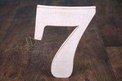 Číslice MAXI sedmička bílá