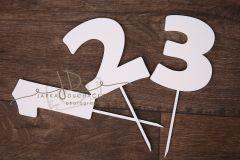 Zápich číselný - SADA - 1 2 3 bílá