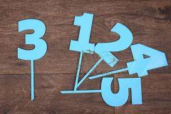 Zápich číslo 3 - modrá