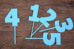 Zápich číslo 4 - modrá