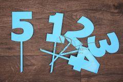 Zápich číslo 5 - modrá