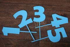 Zápich čísla - sada 1 až 5 - modrá - typ2