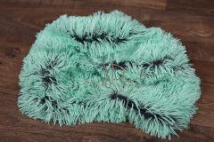 Plyš umělý s dlouhým chlupem - zelený