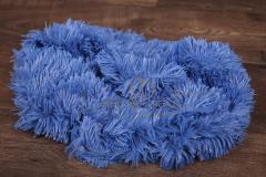 Plyš umělý s dlouhým chlupem - modrý
