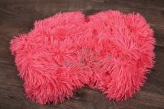 Plyš umělý s dlouhým chlupem - růžový