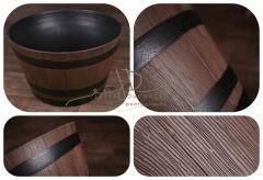 Vědro maxi - imitace dřeva