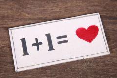 Tabulka dřevěná 1+1 <3