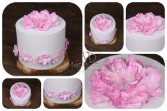 Dort pěnový - dekorace - růžový