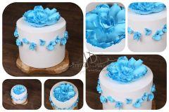 Dort pěnový - dekorace - modrý