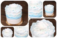 Dort pěnový - dekorace - modrý volánkový