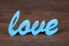Nápis LOVE modrý