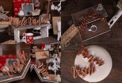Nápis Veselé Vánoce zlatý MAXI - typ 2