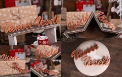 Nápis Veselé Vánoce zlatý MAXI - typ 1