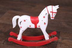 Koník houpací červený