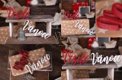 Nápis Veselé Vánoce červenobílý MAXI - typ 2