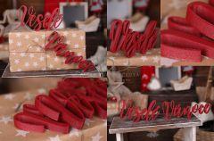 Nápis Veselé Vánoce červený  MAXI - typ 2