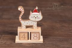Kalendář dřevo - kočka velká