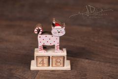 Kalendář dřevo - kočka malá
