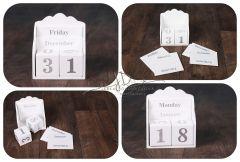 Kalendářová - datumová krabička - bílá