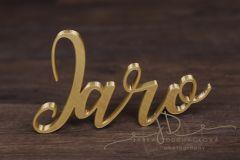 Nápis JARO zlatý