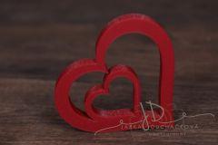 Srdce dvojité červené