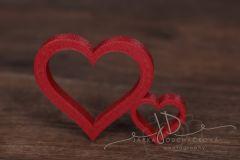 Srdce s malým červené