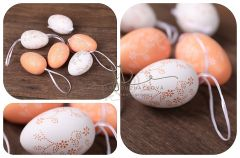 Dekorační vajíčka - oranž - 6ks