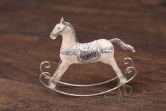 Koník houpací kovový