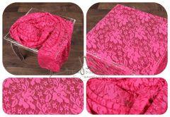 WRAP krajkový 150x50 růžový