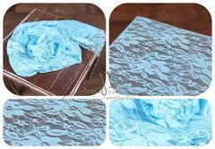 WRAP krajkový 100x40 modrý
