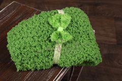 Podložka pletená + čelenka zelená