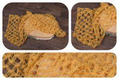 Wrap pletený s oky 65x50cm