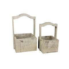 Box dřevěný - sada 2 bedýnek