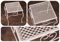 Kovový stolek - stolička