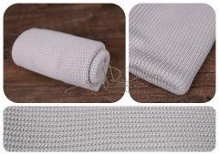 Wrap - pletenina 150x30cm - šedá