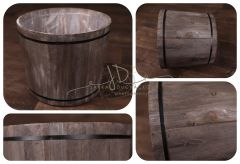 Vědro dřevěné šedé