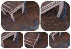 Dekorativní rybářská síť modrá